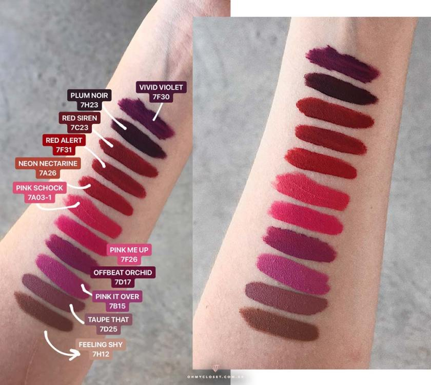 Batons matte Mary Kay At Play, swatches no Oh My Closet!