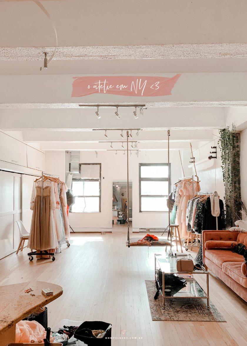 Ateliê da designer Teuta Matoshi em Nova York.