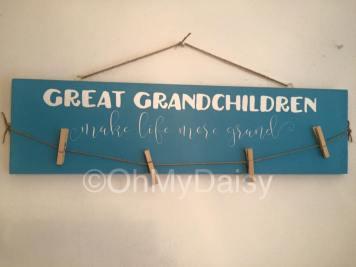 Sign-GreatGChildren Hang