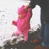 crunching snow.