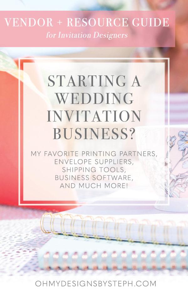Vendor List And Resource Guide For Invitation Designers