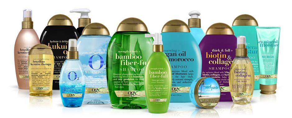 ogx marque cheveux capillaire blog blogueuse avis revue soin chevelure américain huile coco lait après shampoing nourrissant secs
