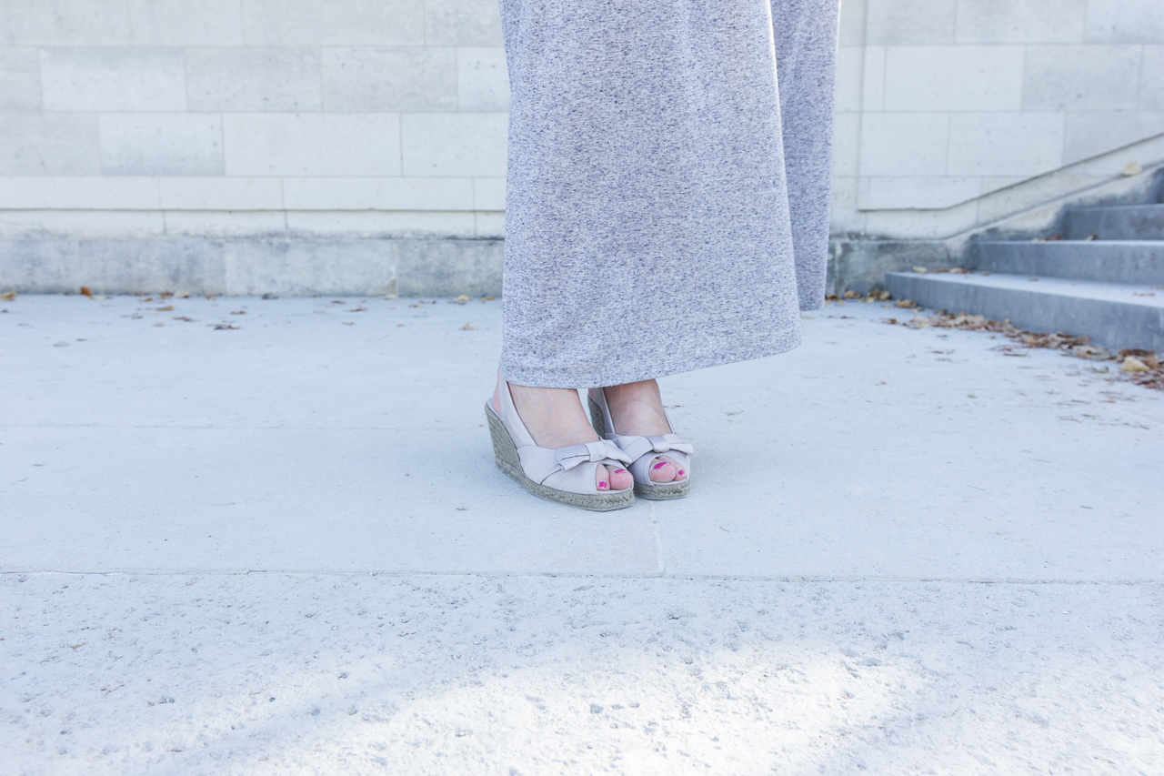 look outfit mode blog robe longue grise h&m primark style blogueuse mode