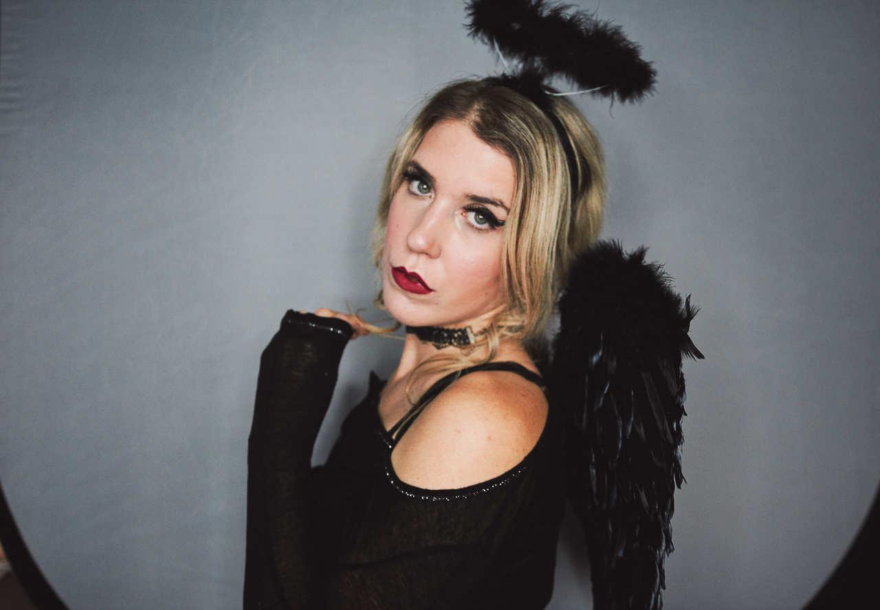 Maquillage Halloween Ange Ténébreux
