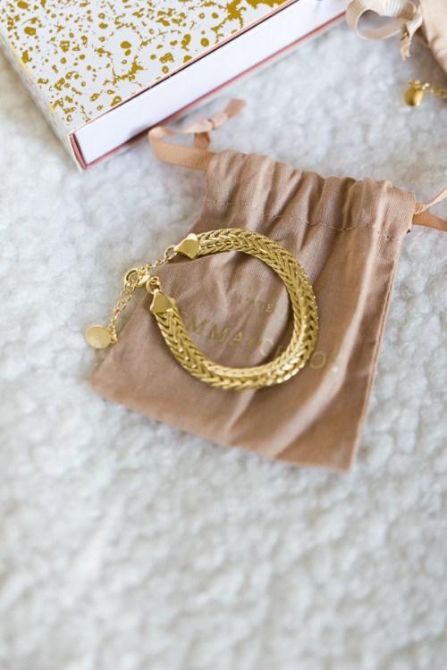 Bracelet plaqué or Emma et Chloé