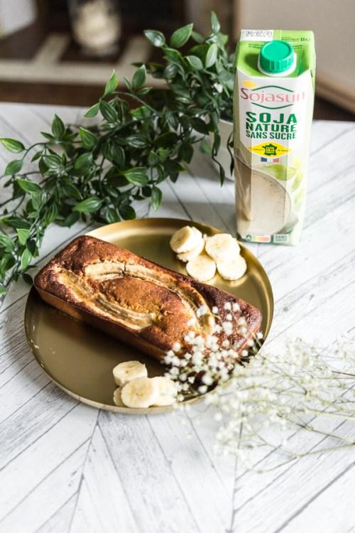 Banana bread lait soja