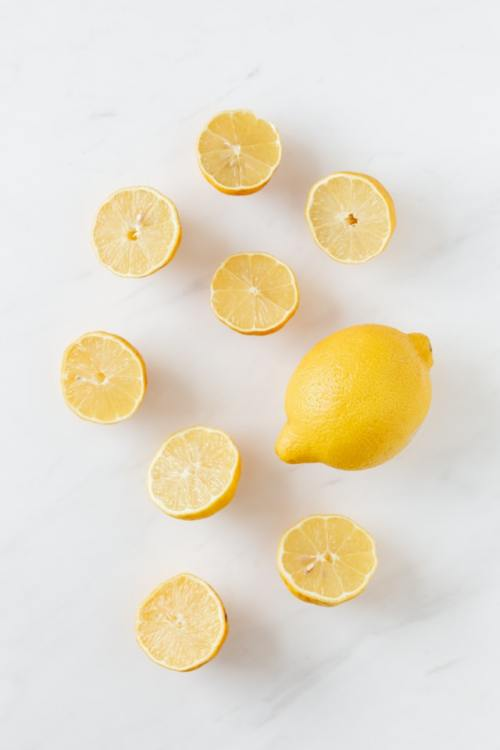 Citron en flatlay