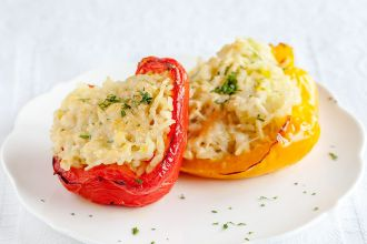 Risotto stuffed bell peppers - The perfect date-night menu