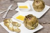 Artichoke with shallot vinaigrette