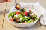 Strawberry goat cheese salad - The perfect date-night menu