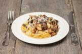 Balsamic mushroom spaghetti