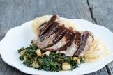 Beef kale and parsnip with ras el hanout sauce