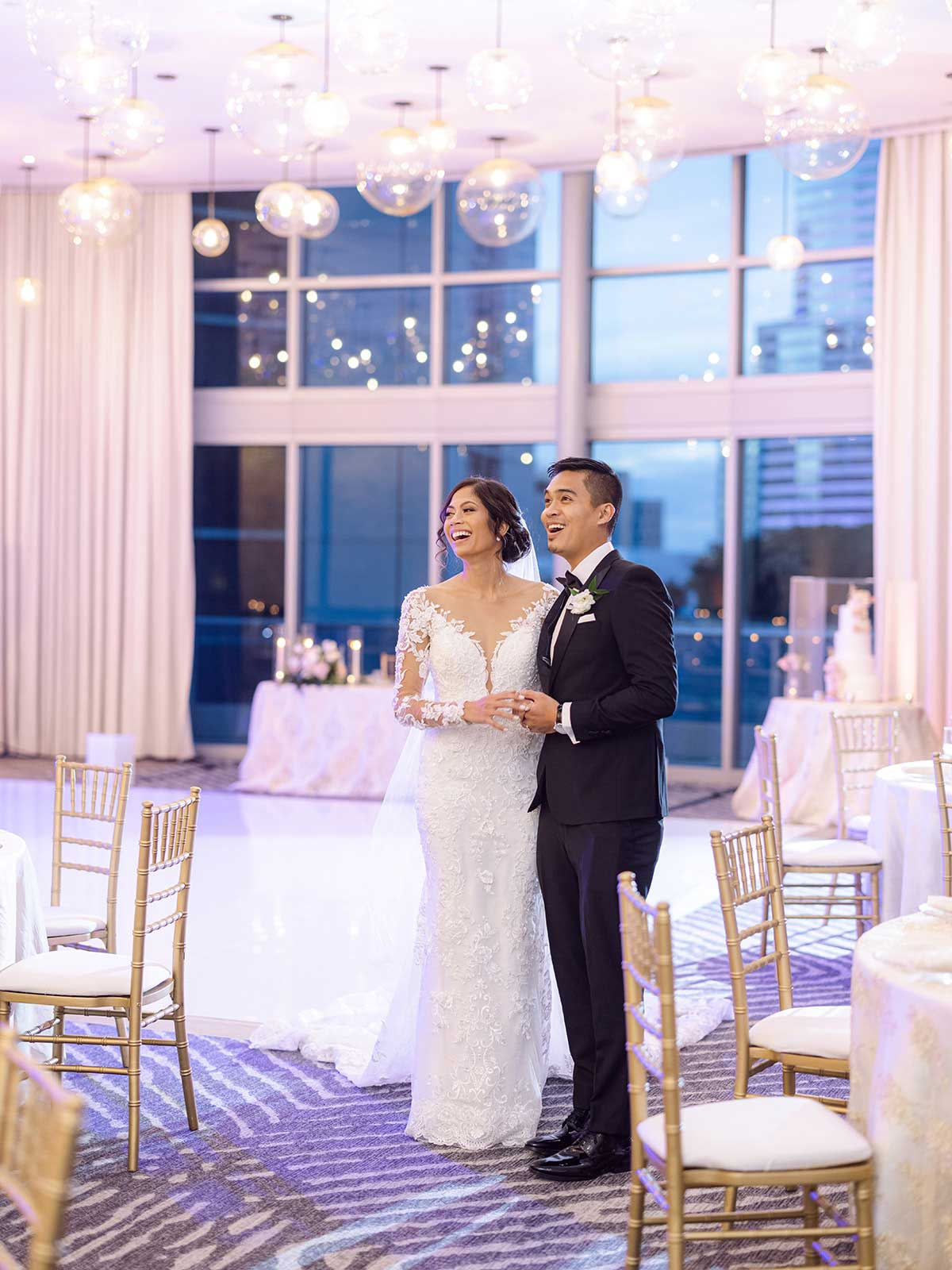 Couple's reception first look at The Epic hotel in Miami