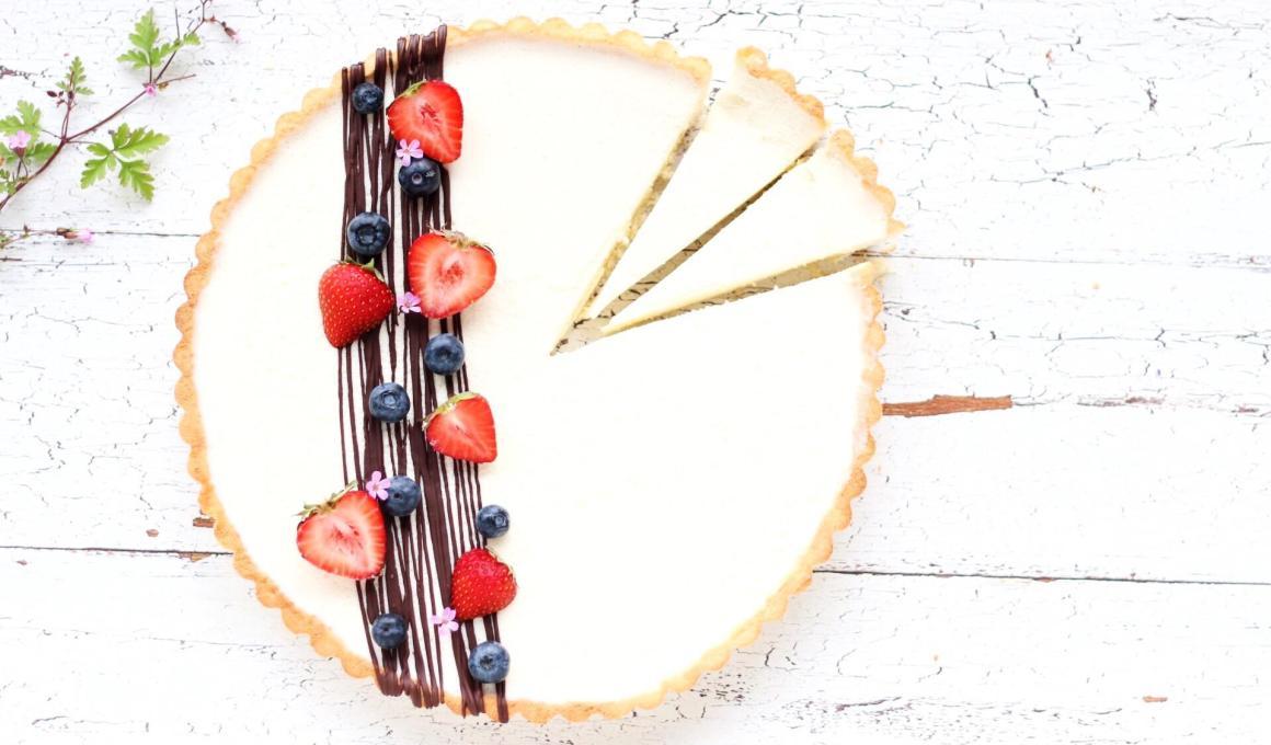 Glutenvrije panna cotta taart