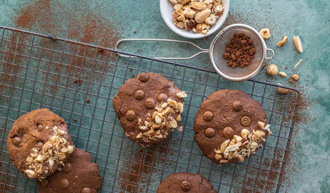 Glutenvrije pindakaas-chocolade koeken