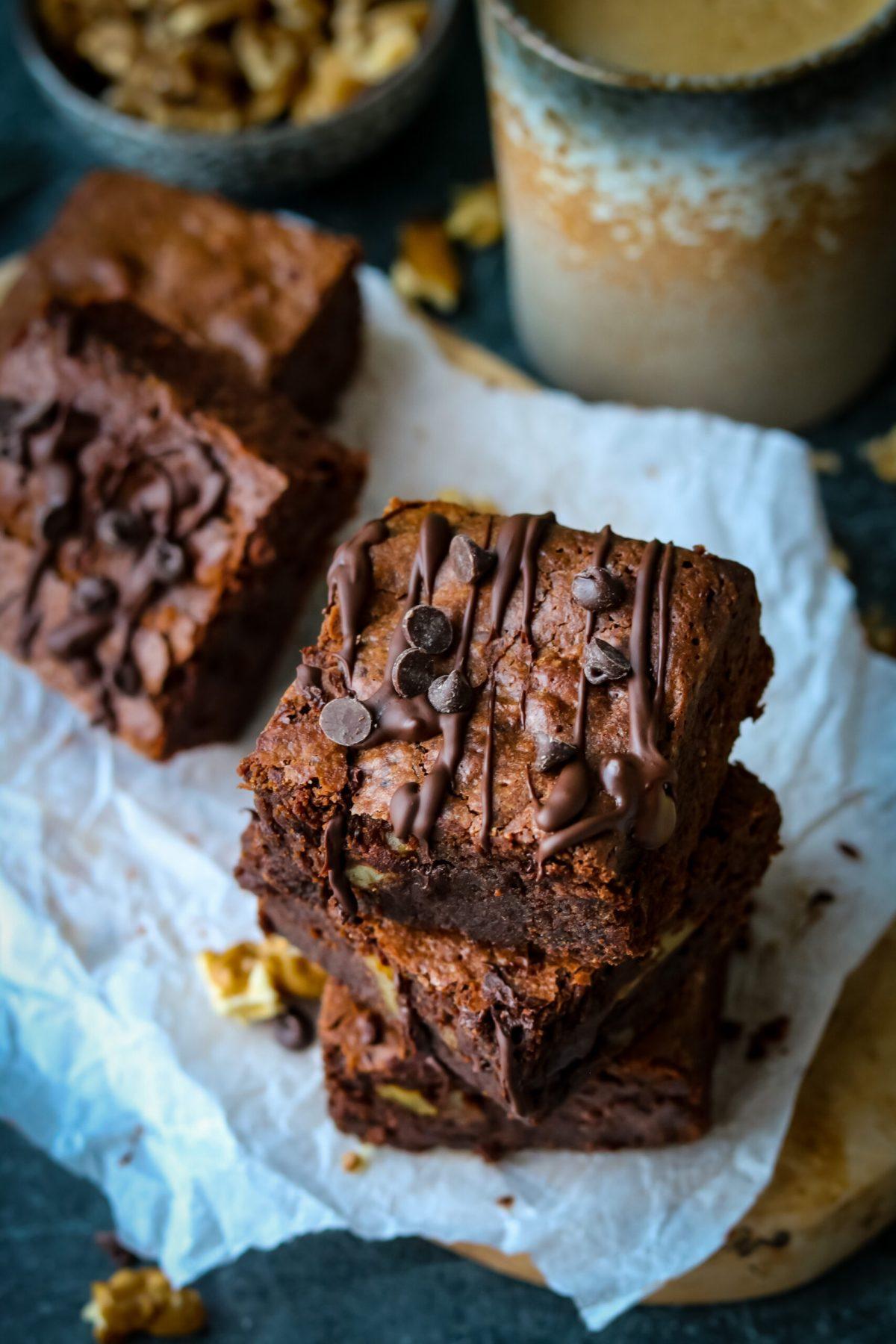 Brownies van zoete aardappel, glutenvrij en vegan