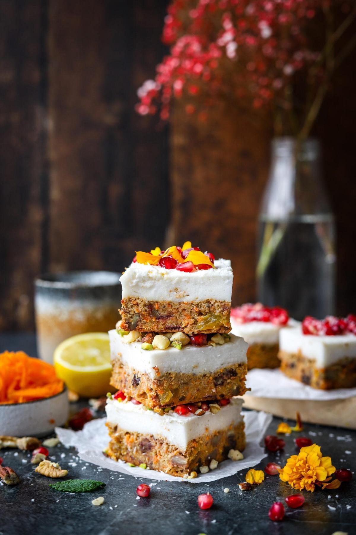 Glutenvrije carrot cake cheesecake bites