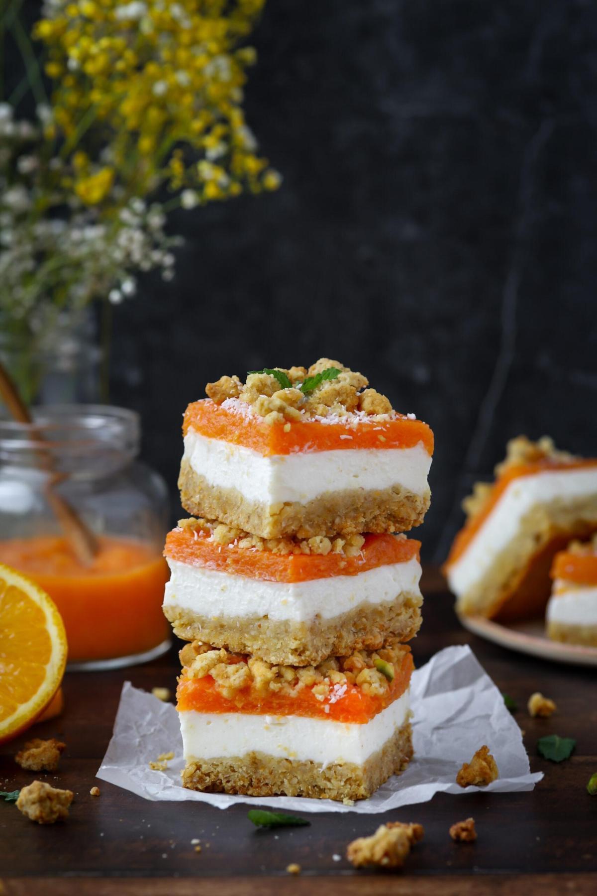 Glutenvrije oranje cheesecake bites