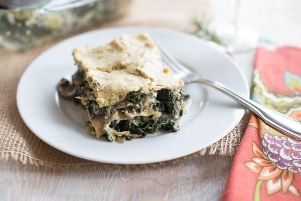 Creamy Mushroom and Kale Lasagna Recipe