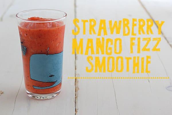 Strawberry Mango Fizz Smoothie