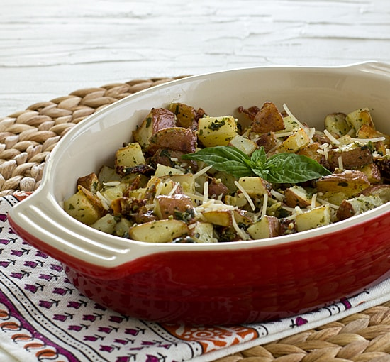 Roasted Pesto Potato Hash