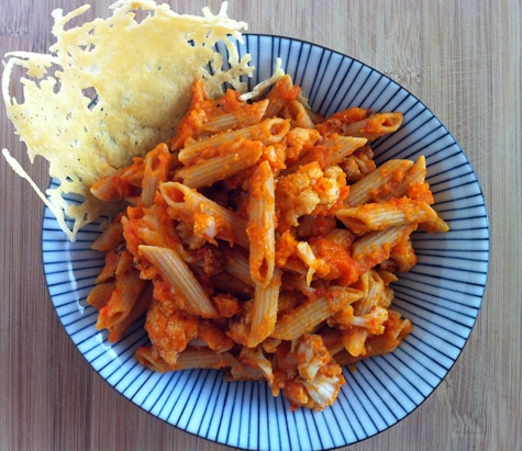 Whole Wheat Penne with Butternut Squash Sauce