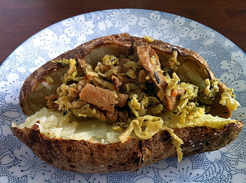 Braised Cabbage with Seitan from Appetite for Reduction