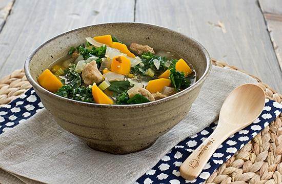 Seitan, Kale & Butternut Squash Stew