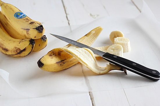Cut Bananas Into Chunks