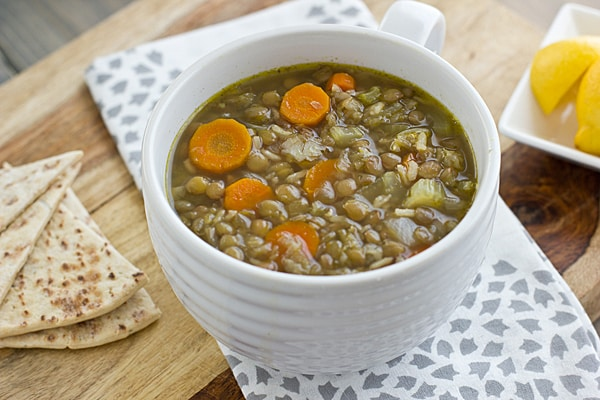Middle Eastern Lentil and Rice Soup