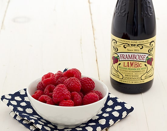 Framboise Lambic and Raspberries