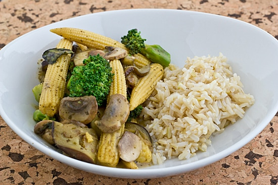 Thai Green Curry Vegetables