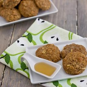 Apple Cinnamon & Quinoa Muffin Top Cookies with Honey
