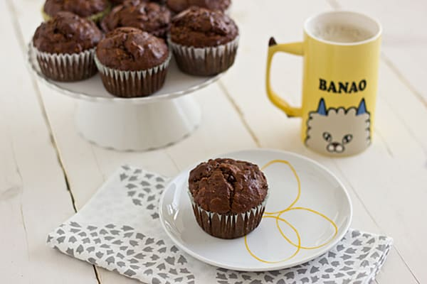 Dark Chocolate Banana Breakfast Muffins