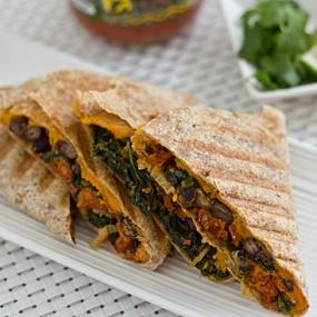 Kale & Sweet Potato Quesadilla
