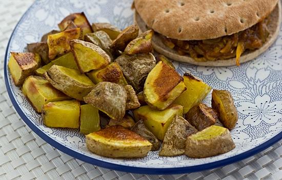 Roasted Potatoes & Squash Sandwich