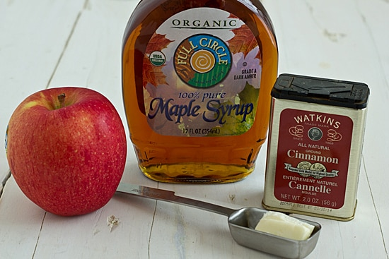 Sauteed Apple Ingredients