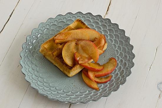 Sauteed Apples on Waffle