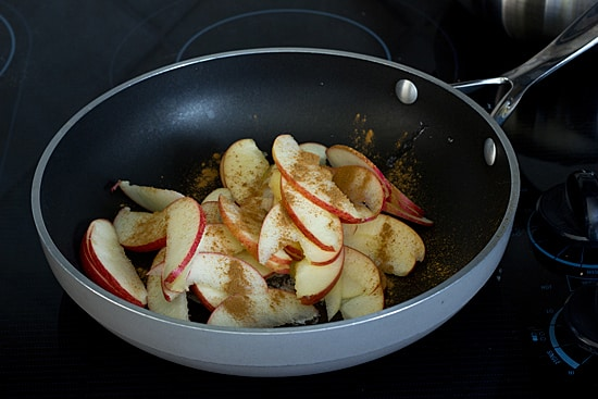 Apples and Cinnamon in the Skillet