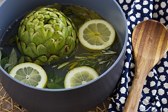 Steamed Whole Artichokes