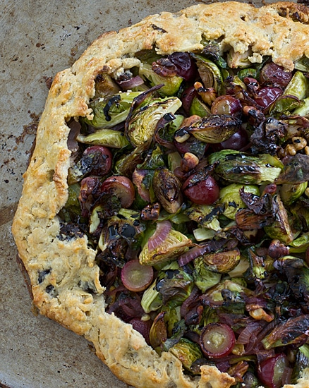 Brussels Sprout & Grape Galette