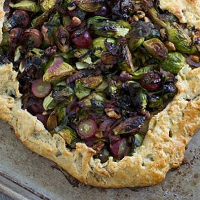 Brussels Sprouts & Grape Galette [half]