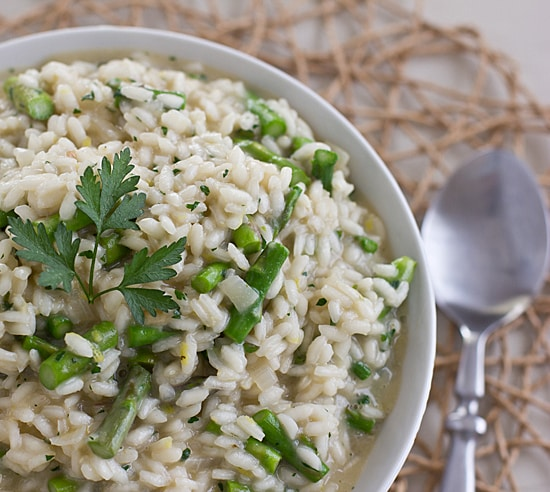 Lemony Asparagus Risotto [Close]