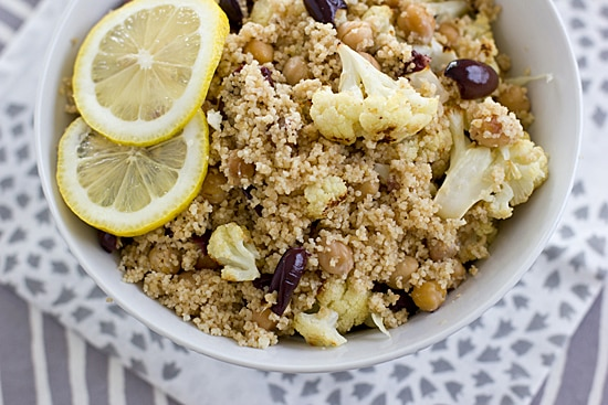 Couscous Salad with Roasted Cauliflower