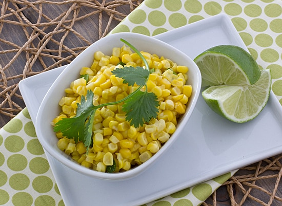 Fresh Corn Saute with Coconut Milk & Sriracha