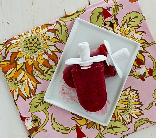 Raspberry Ginger Popsicles