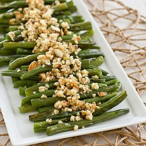 Green Beans with Lemon-Almond Pesto [angle]