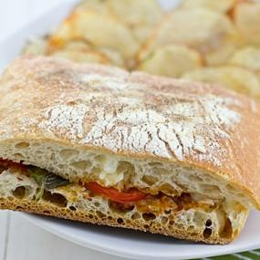 Grilled Tomato and Mozzarella Panini
