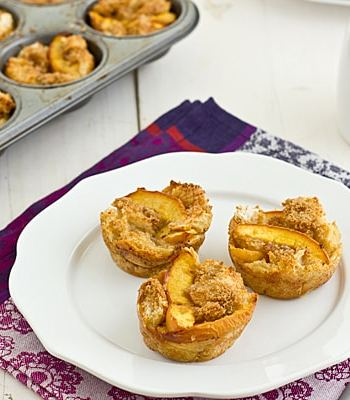 Brown Sugar Peach French Toast Cups