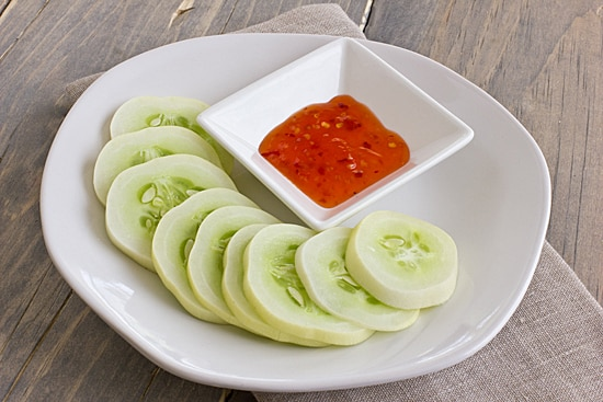Dragon's Egg Cucumbers with Chili Sauce